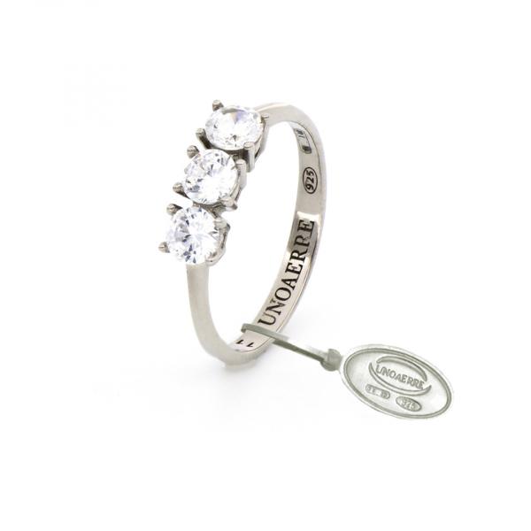 White silver Mini Trilogy ring