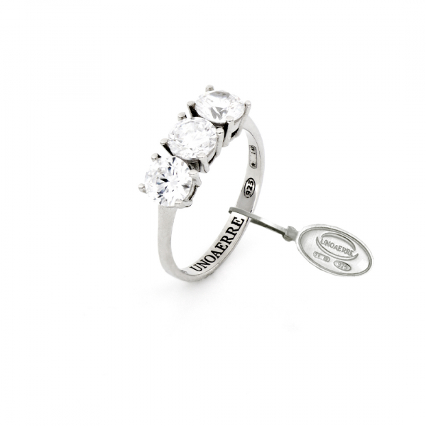 White silver Trilogy ring