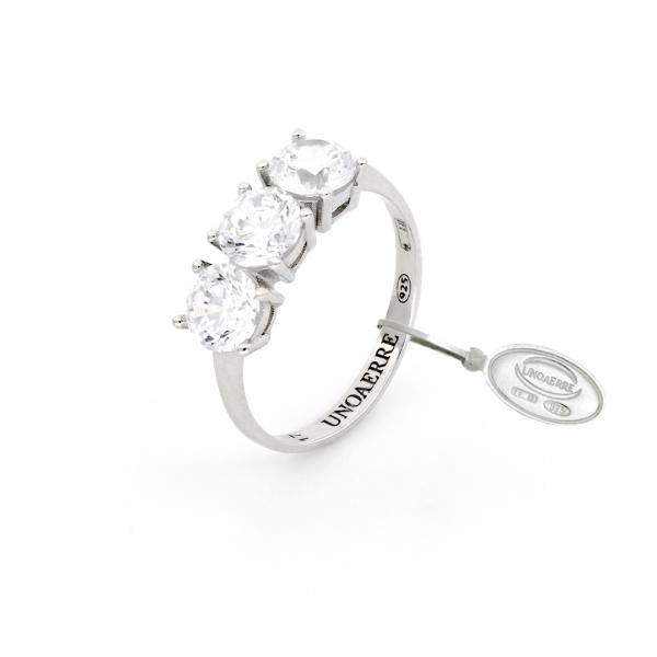White silver Maxi Trilogy ring