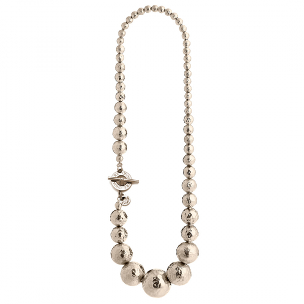 Collana in argento dorato