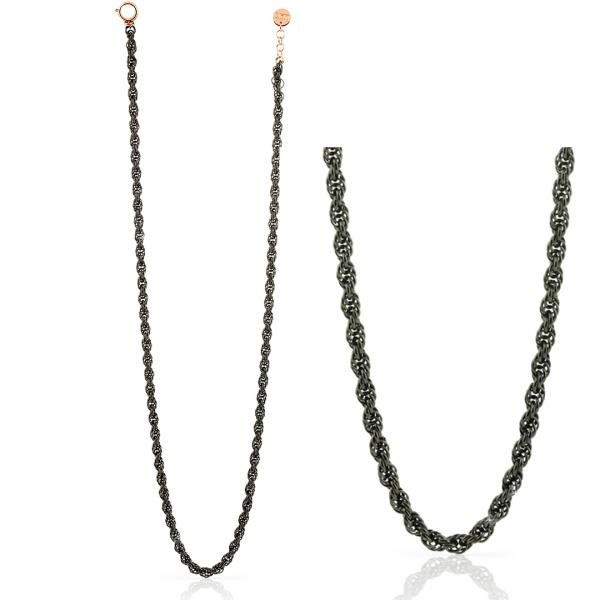 Collana in bronzo nero