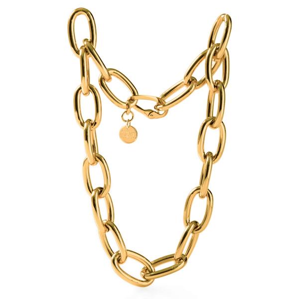 Collana con catena forzatina in bronzo dorato