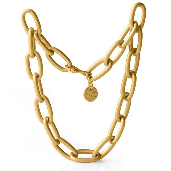 Collana con catena forzatina in bronzo dorato satinato